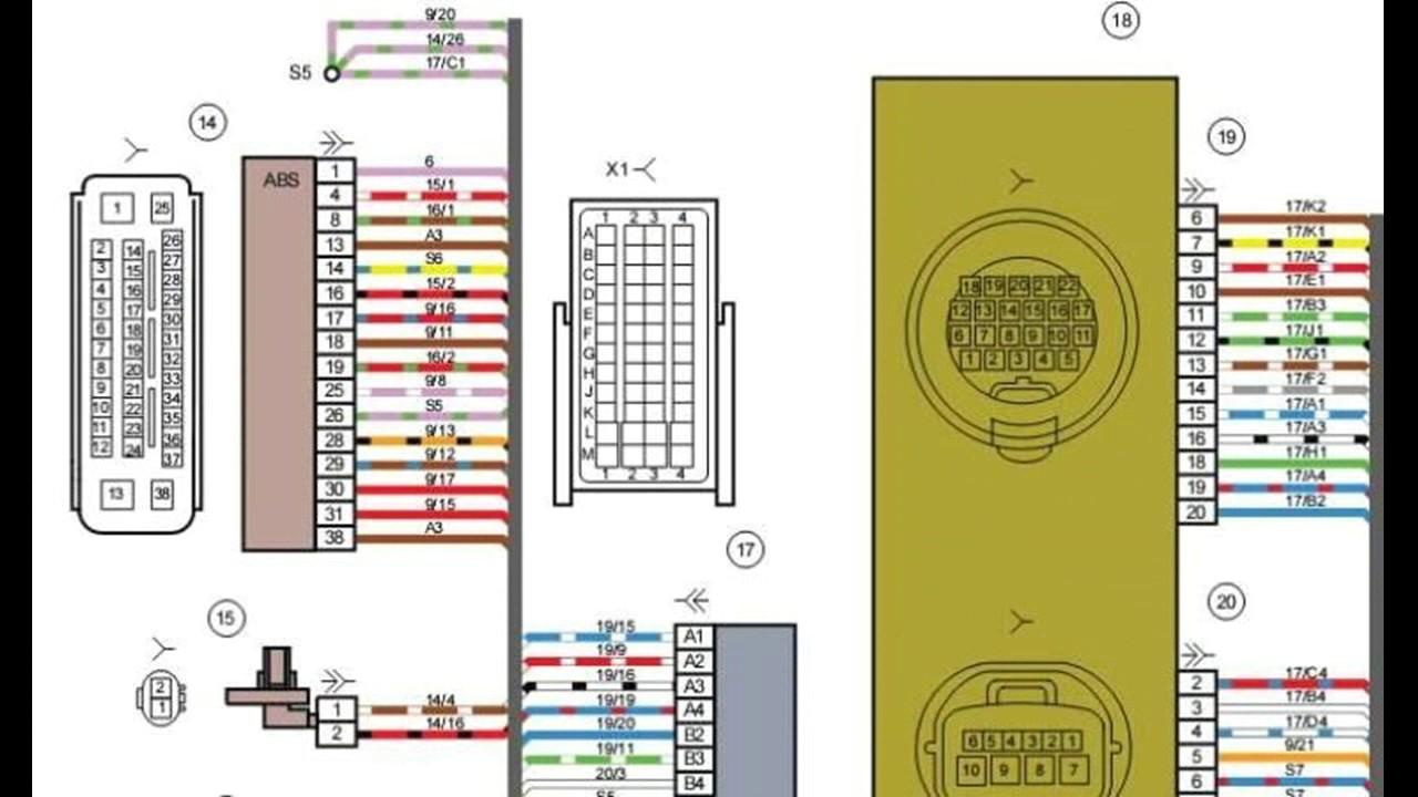Схемы электропроводки ЛАДА ГРАНТА