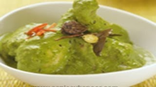 Chicken Hirwa Masala (green Chicken Curry)