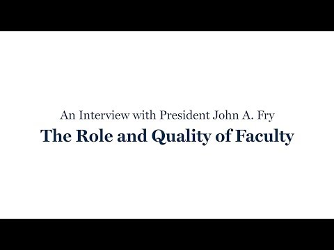 The Role and Quality of Faculty