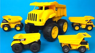Small Big Bigger CAT Tough Tracks Mighty Machines Dump Truck the mighty wheels construction vehicles
