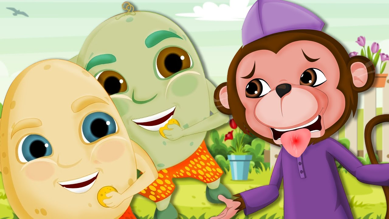 Bangaala Dumpa and Kothi Mama | Potato and Monkey Songs Compilation | Telugu Rhymes for Children