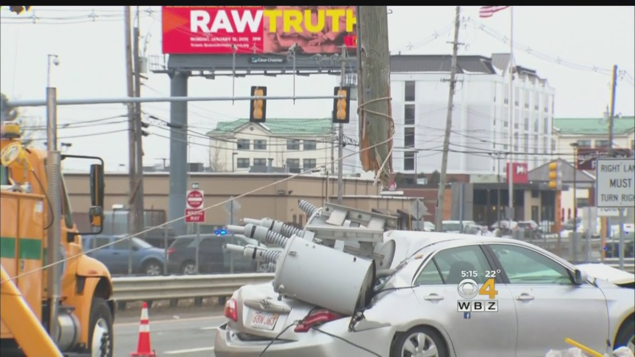 Crash Knocks Out Power On Route 1 In Peabody