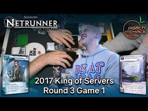 Netrunner - Gaberiel Santiago vs. Cerebral Imaging - 2017 King of Servers - Round 3 Game 1