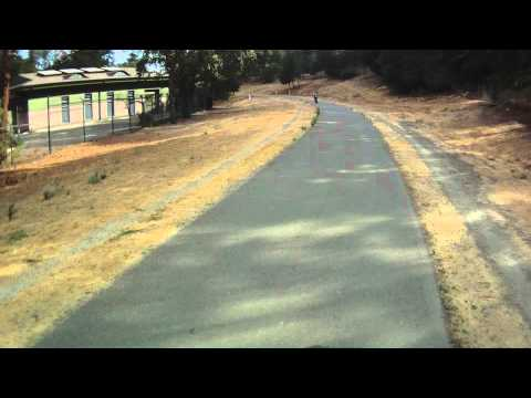 Iron Horse Trail Walnut Creek to Alamo  Part 3 Bicycle Ride ContourHD 1080p HD Camera