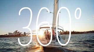 【スマホ推奨】海に沈む夕陽と煌めく夜景。シドニーの港を360°で堪能!