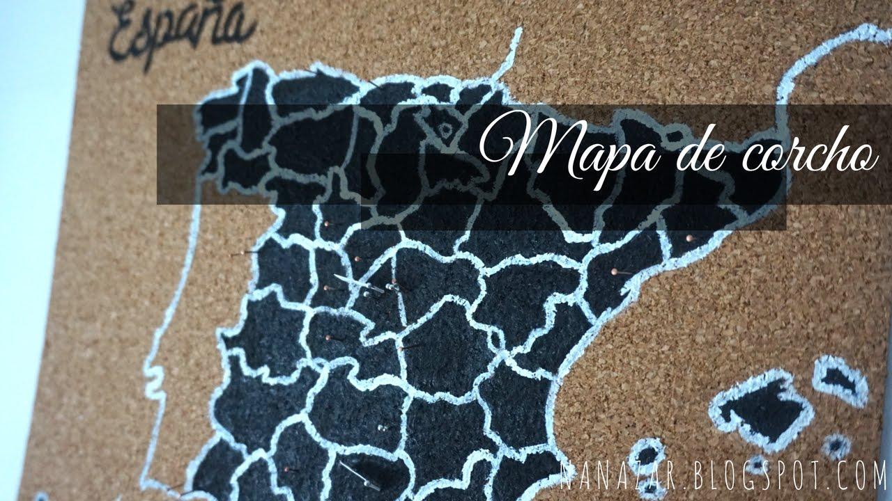 Mapa de corcho espa a cork board map youtube - Mapa de corcho ...