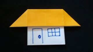 Cara Membuat Origami Rumah Sederhana Sekali | Origami Bangunan