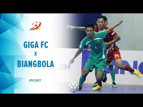 Giga FC Kota Metro (8) vs (3) Biangbola FC Bogor - Highlight Pro Futsal League 2017