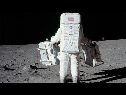 Moon landing music video– High-resolution Apollo 11 images