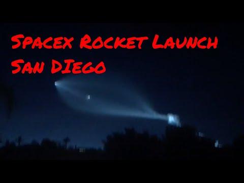 Spacex Rocket Launch from Vandenberg  thru  San DIego 12:22:17 iridiumnext