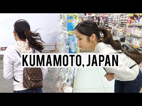 Roadtrip in Japan! Going to an active Volcano & Shopping in Kumamoto