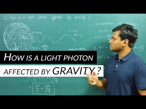 How is a light photon affected by Gravity?