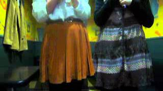 ノリで歌った (左:YUI担当 右:YUKA担当)