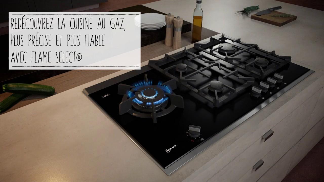 pas mal f8bc6 2a9ea Table gaz NEFF avec FlameSelect®