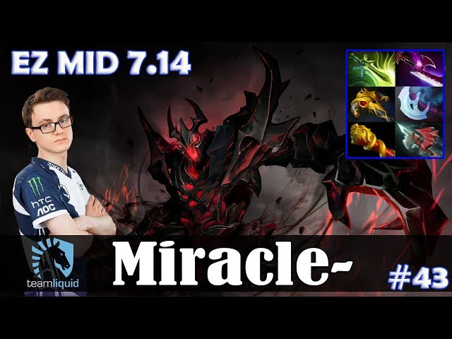 Miracle - Shadow Fiend EZ MID   7.14 Update Patch   Dota 2 Pro MMR Gameplay #43