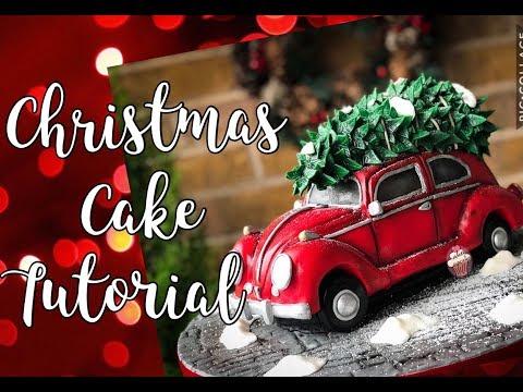 Volkswagen Beetle cake tutorial | Christmas Cake Tutorial | Driving Home for Christmas