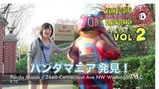 2 Minami Fujioka's Panda Search-Washington DC 地下鉄を乗り継いで動...