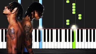 Rae Sremmurd Black Beatles ft. Gucci Mane Piano Tutorial by Peter PlutaX