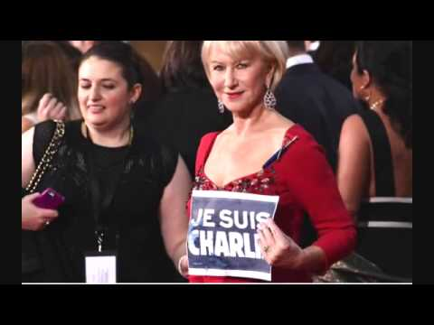Golden Globes  Celebrities show Charlie Hebdo support