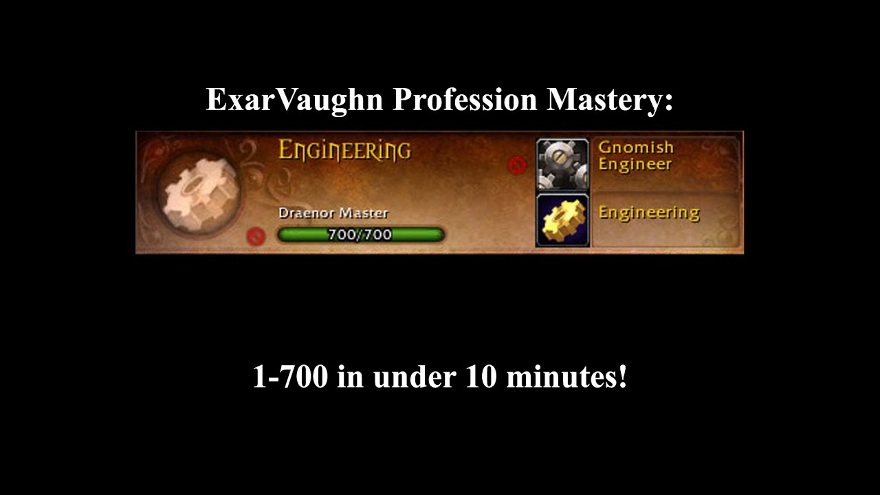 World of warcraft engineer mastery, best profession leveling guide.