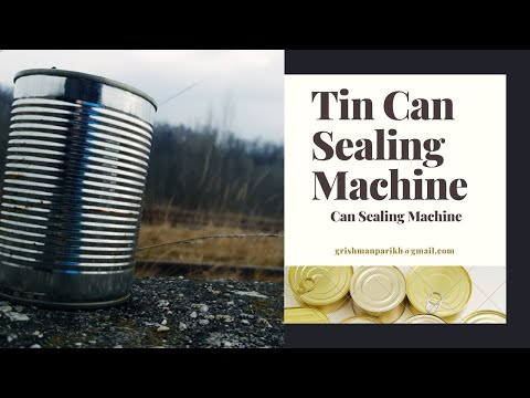 Hand Operated Tin Can Sealing Machine - Manual Tin Can Sealing Machine - Tin Can Seal Machine