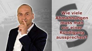 Abmahnung im Arbeitsrecht 8 - Wie viele Abmahnungen vor der Kündigung? | FA Bredereck
