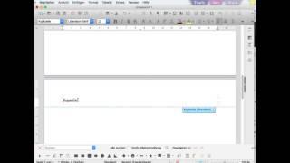 Kopf und Fußzeile in LibreOffice