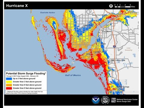 Experimental Potential Storm Surge Flooding Map (Short Version