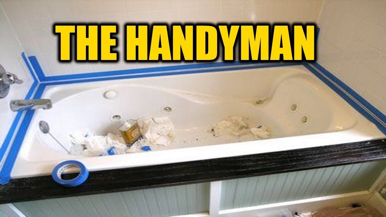 How To Caulk A Bathtub The Right Way | THE HANDYMAN |