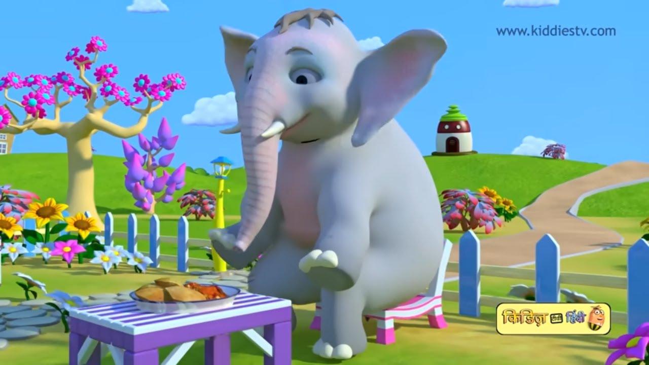Hathi Raja kahan chale   हाथी राजा कहाँ चले   hindi rhyme   hindi baby  songs   kiddiestv hindi