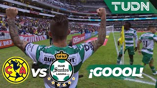 ¡Gool de Santos que le da la vuelta!  | América 1 - 2 Santos | Liga MX - Ap19  - J17 | TUDN