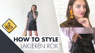 Hoe style ik een lakleren rok? l How to style