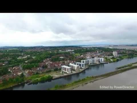 Ariel Video of The Mersey Estuary - Runcorn - DJI Phantom 3