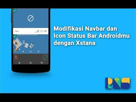 Cara Merubah Navbar dan Icon di Status bar Android (Rooted & Terinstal Xposed)