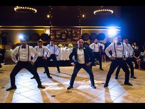 Surprise Groomsmen Dance!  EPIC Ending!
