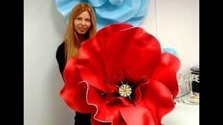 #Мастер класс- большие цветы из изолона( #фоамирана).How to Make GIANT Tissue Paper(, 2016-05-02T16:18:19.000Z)