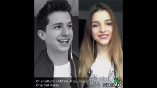 One Call Away - Charlie Puth & MAYA Pop| Sing! Karaoke by Smule