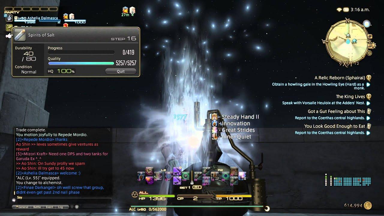 Ffxiv    Star Crafting Rotation Hq