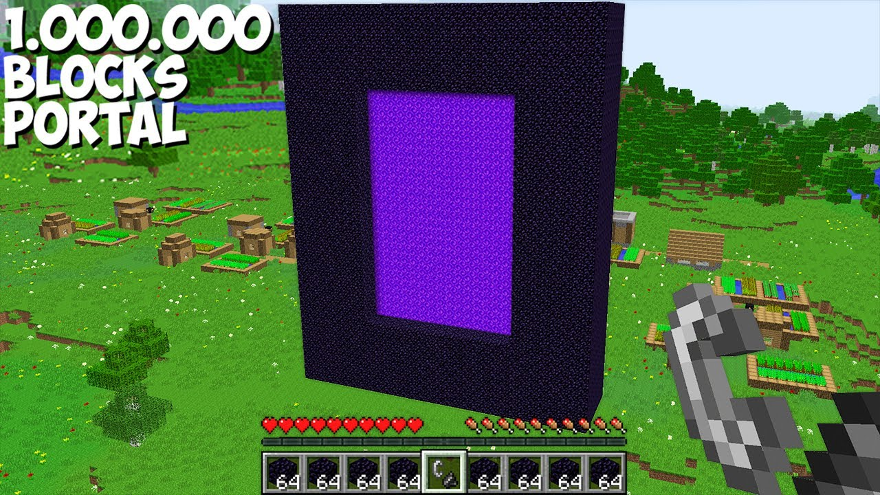 Never BUILD A PORTAL FROM 1,000,000 BLOCKS in Minecraft ! INCREDIBLY HUGE PORTAL !