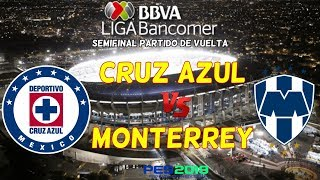 PES 2019 | Cruz Azul vs Monterrey | Semifinal Liga Mx | Gameplay PC