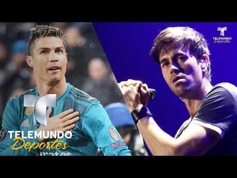 Cristiano Ronaldo y Enrique Iglesias, fútbol y música por una buena causa