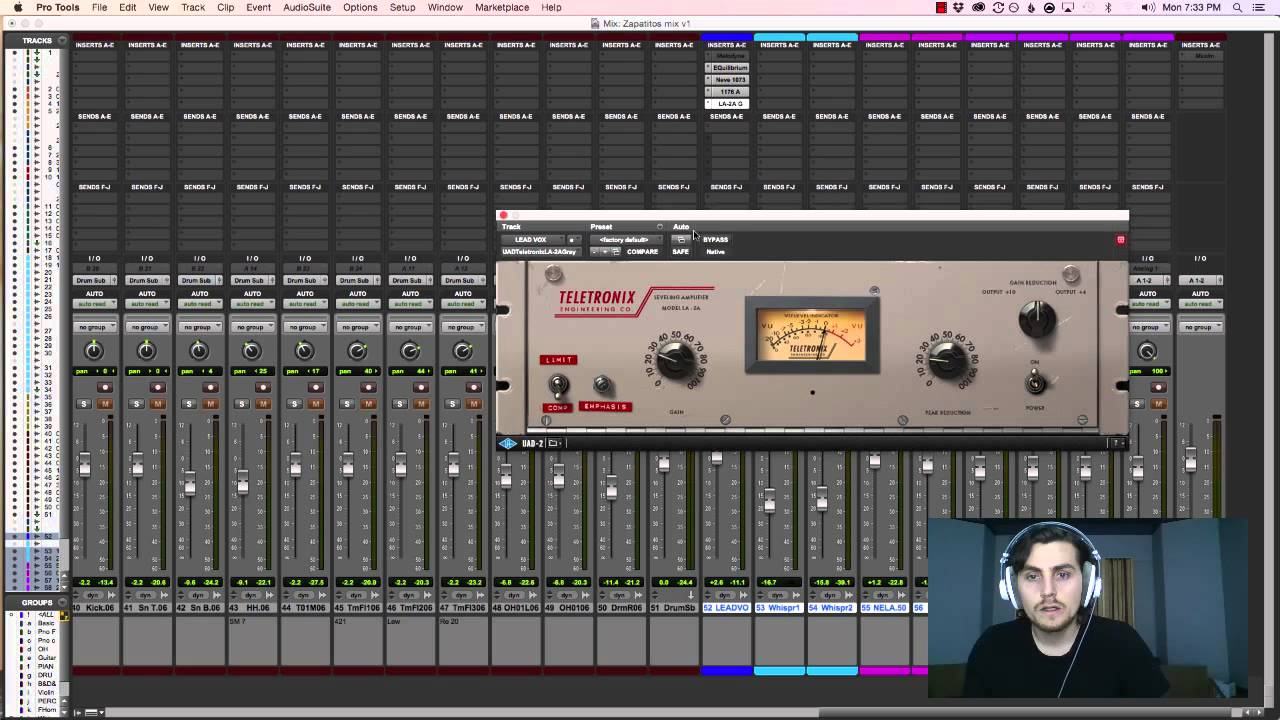 vocal mixing in pro tools 11 with uad plugins youtube. Black Bedroom Furniture Sets. Home Design Ideas
