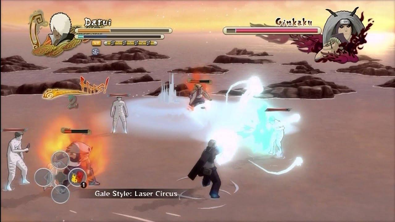 Naruto Ultimate Ninja Storm 3 - Darui vs GinKin Brothers ...
