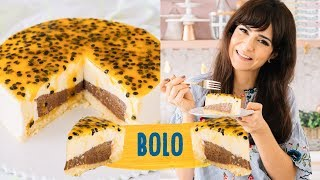 Bolo Mousse de Maracujá – Com Recheio de Chocolate