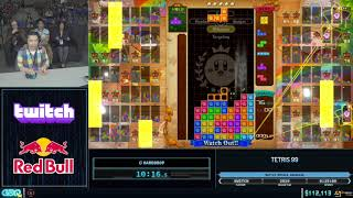 Tetris 99 by HardDrop in 21:36 - GDQx 2019
