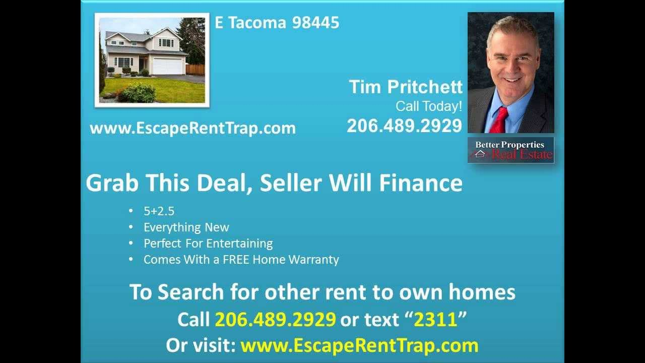 All Types Of Credit Rent To Own 5 Br Tacoma Wa Text 2311 For