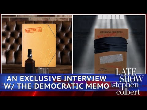 See Late Show Skit - The Dossier Interviews The Democratic Memo!