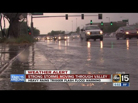 Monsoon Storms move into the Valley