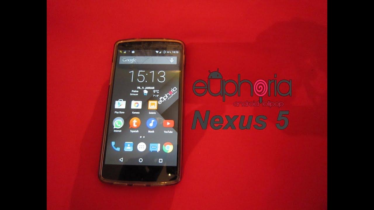 Best Nexus 5 Rom! Euphoria OS on Nexus 5