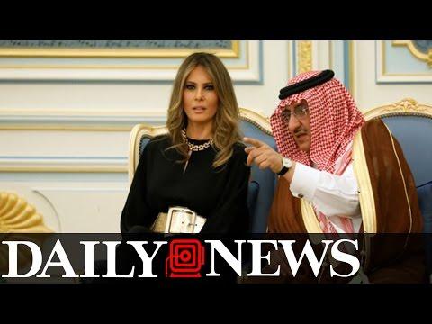 Melania Trump Is Without A Headscarf In Saudi Arabia